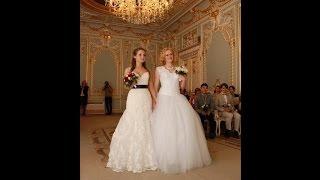 Две невесты зарегистрировали брак в Санкт-Петербурге