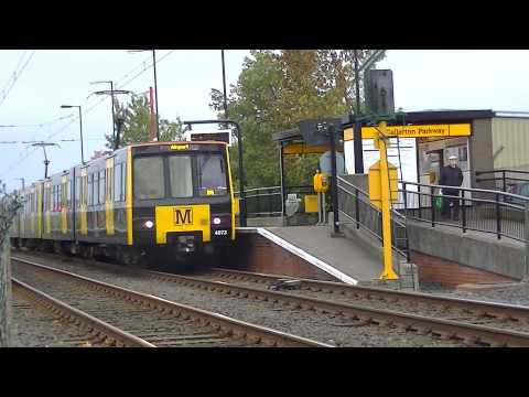 Tyne And Wear Metro-Metrocars 4073 And 4042 At Callerton Parkway