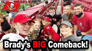 TOM BRADY'S BIG COMEBACK!!! *Logan's First Bucs Game!*