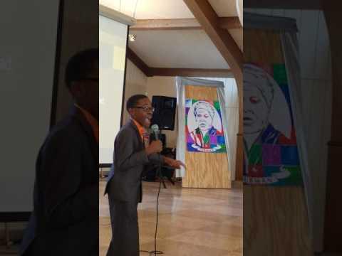 Elijah Coles-Brown gives speech at Charterhouse School