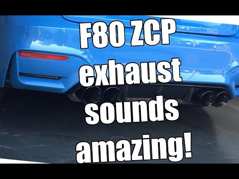 Vlog 03: BMW F80 ZCP Exhaust amazing sound! (2017 BMW M3 Manual Transmission)