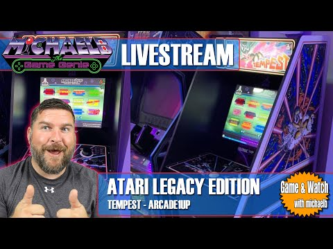 Arcade1Up Atari Legacy Edition Gameplay Livestream from MichaelBtheGameGenie
