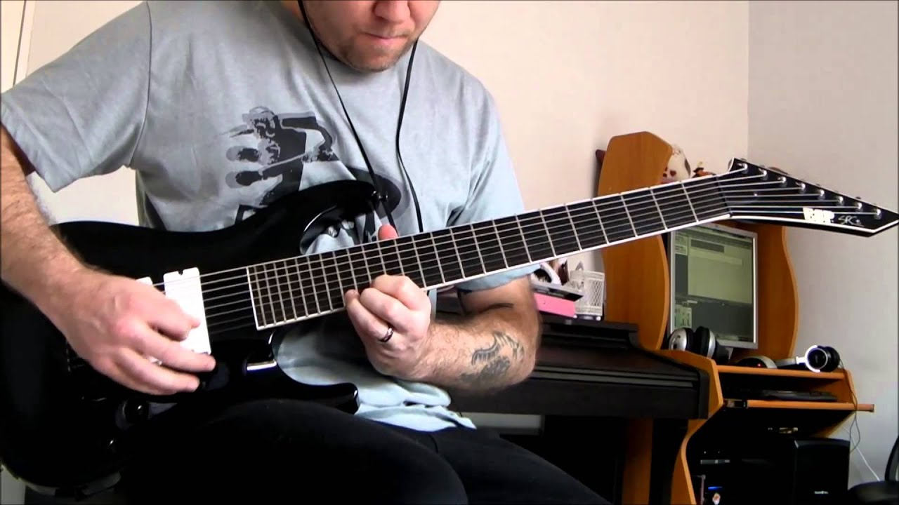 deftones swerve city 8 string guitar cover youtube