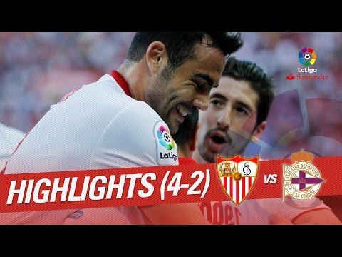Resumen de Sevilla FC vs Deportivo de la Coruña (4-2)