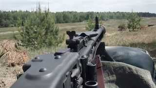 German MG 3 Schießen, Shooting the MG3, Kalibers, 7,62 × 51 mm, NATO
