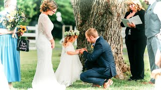 Stepdad Promises 'Forever' to New Jersey Girl in Touching Wedding Ceremony