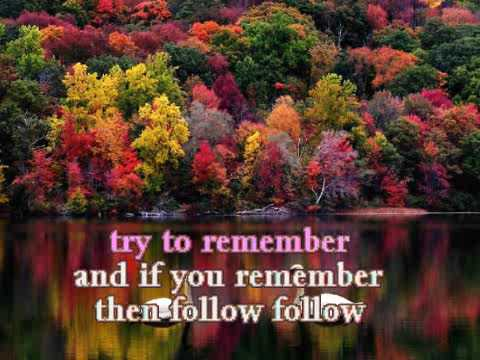 Karaoke - Try To Remember - The Brothers Four