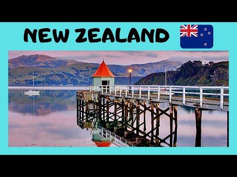 NEW ZEALAND, tour of historic RESORT TOWN of AKAROA (South Island)