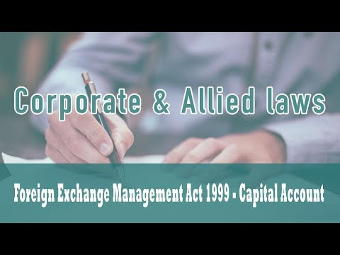 Foreign Exchange Management Act 1999 | Capital Account | Export of Goods & Services | Part 3
