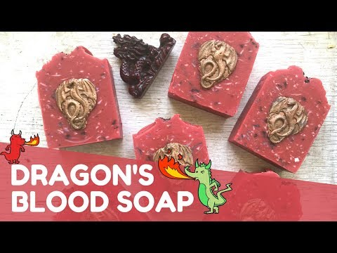 Making Dragon's Blood Confetti Soap 🐉 | GYPSYFAE CREATIONS