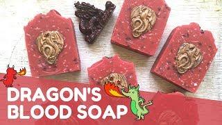 Making Dragon's Blood Confetti Soap 🐉 | GYPSYFAE CREATIONS