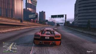 Grand Theft Auto V stealing the cars and taking them to Devin Weston and Molly Schultz