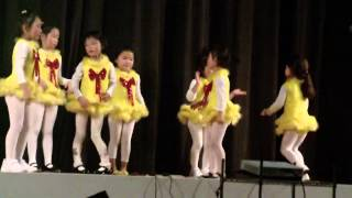 Yilian performing in the school Christmas gala 201