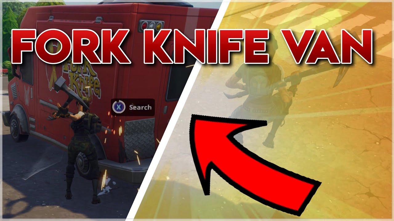 Destroying The New Fork Knife Van On Fortnite Youtube