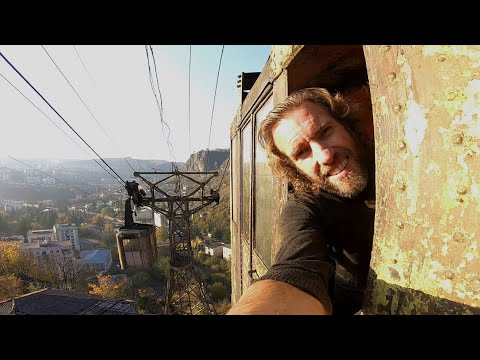 Defying Death In Rusty Old Soviet Era Cable Cars