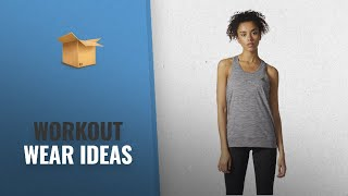 New Workout Wear Women Fashion: adidas Womens Training Performer Banded Tank, Grey Five, Medium