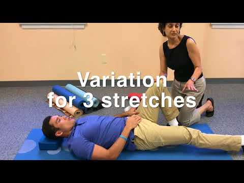 Leg stretches for pelvic pain | Connect PT