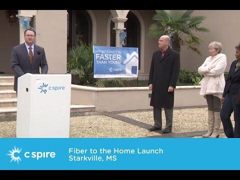 Starkville Mississippi Fiber to the Home Launch - C Spire