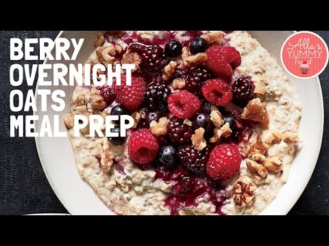 Breakfast Weight-loss Meal Prep | Berry Overnight Oats Recipe