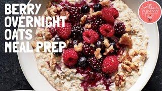 Breakfast Weight-loss Meal Prep | Berry Overnight Oats Recipe