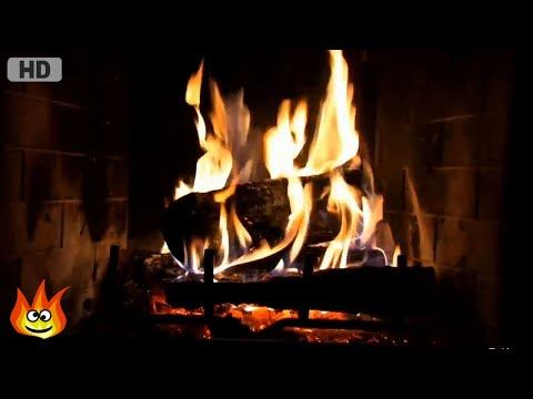 Classic Yule Log Fireplace with Crackling Fire Sounds (HD)