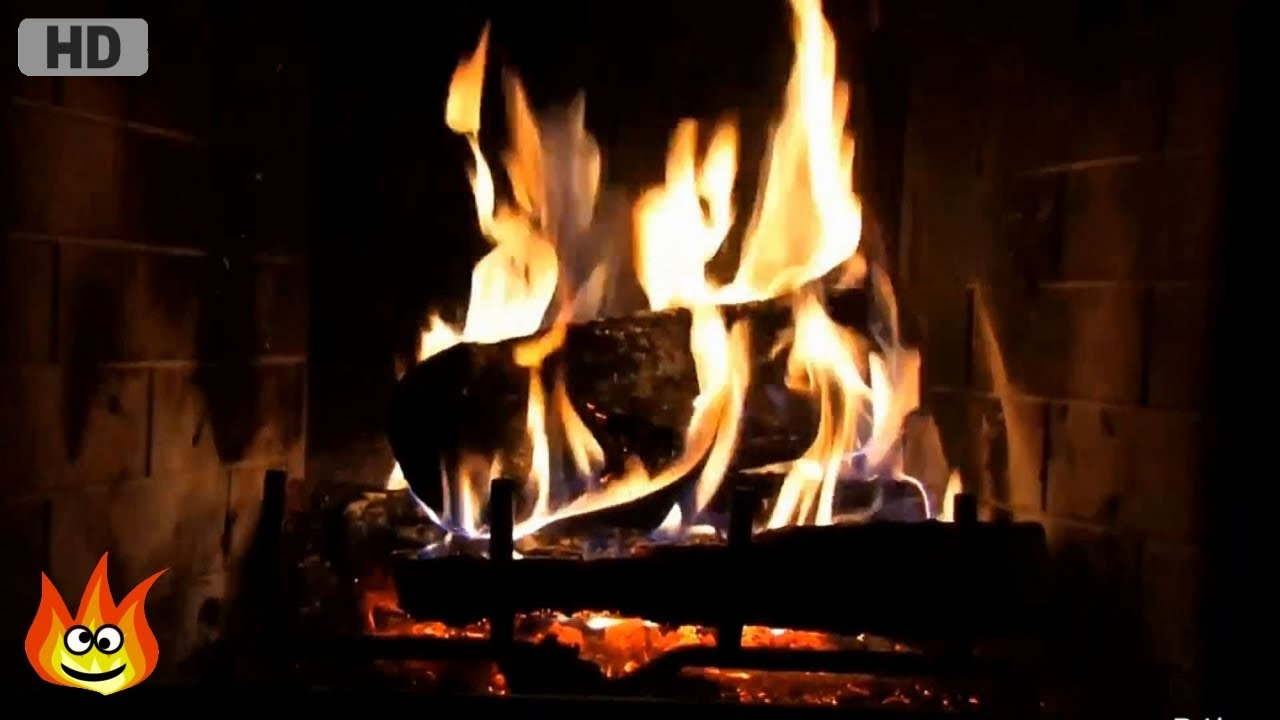 Classic Yule Log Fireplace with Crackling Fire Sounds (HD) - YouTube