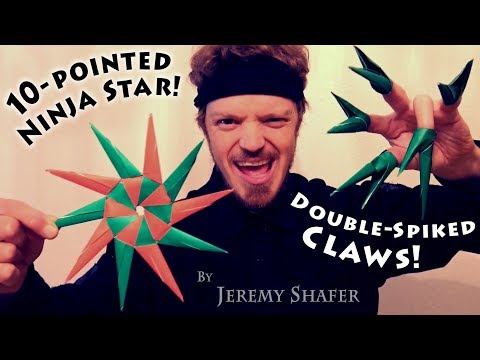 Origami 10-Pointed Ninja Star & Double Spiked Claws