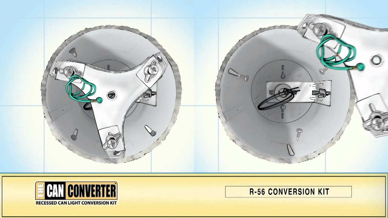 How To Install A Ceiling Fan The Can Converter Model R56