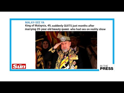 Malaysia's king abdicates: Was it because of his Russian beauty pageant bride?