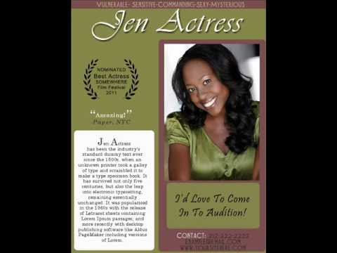 Actor One Sheets - How To Get More Auditions - YouTube - photo#29