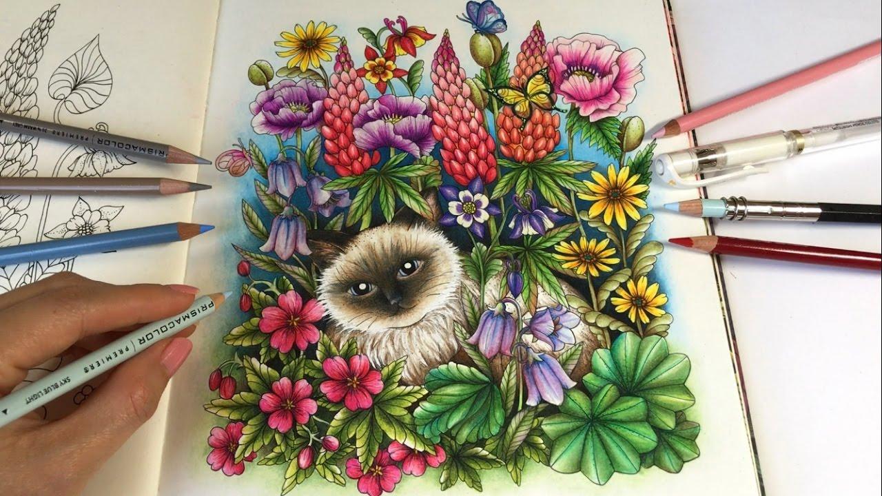 Youtube coloring book - Magical Garden Part 3 Twilight Garden Coloring Book