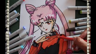 Cómo Dibujar a Black Lady La Dama Negra Chibiusa  How To Draw Sailor Moon R Speed Drawing