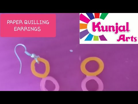 SIMPLE DIY EASY TO MAKE PAPER QUILLING EARRINGS / QUILLING JEWELLERY / ACCESSORIES / PAPER ART
