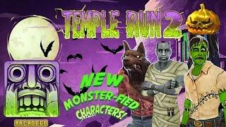 Temple Run 2 Spooky Summit NEW CHARACTERS Wolfman | Franken Guy | Mummy Bones | Halloween Special