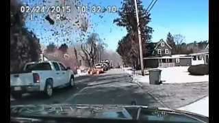 Police dash-cam video of Stafford Township, NJ house explosion