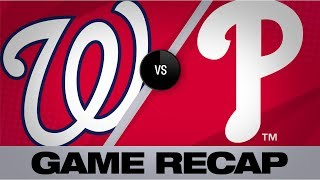 Strasburg leads the Nats in shutout win | Nationals-Phillies Game Highlights 7/12/19
