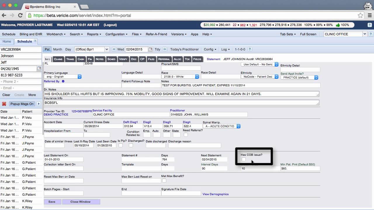 medical billing and practice management software   patient statement