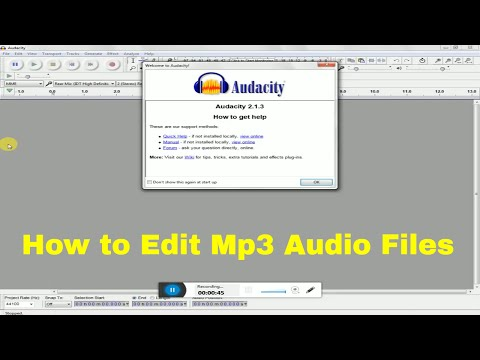 How to Edit Mp3 Audio Files