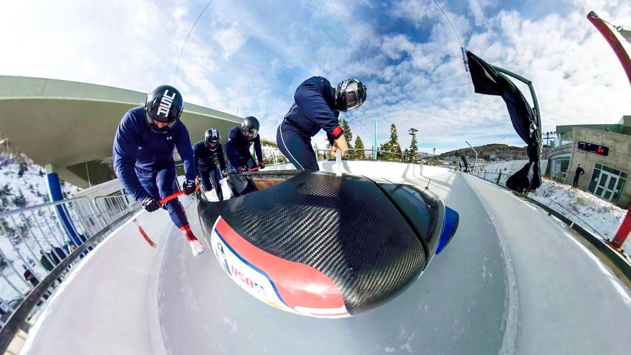 gopro fusion bobsled run in full 360 vr youtube