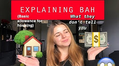 MILITARY BAH (BASIC ALLOWANCE FOR HOUSING) - WHAT YOU NEED TO KNOW