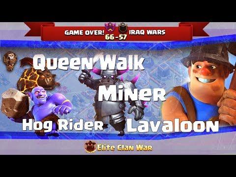 P2/2 GAME OVER! VS IRAQ WAR | Queen Walk + Hogs, Bowitch, Laloon | 3 Stars War TH11 | ClanVNN #486
