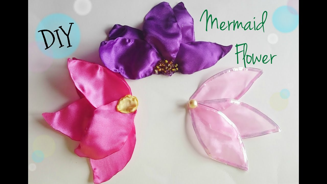 Little Mermaid Inspired Flower Hair Pin Costume Cosplay Prop Youtube