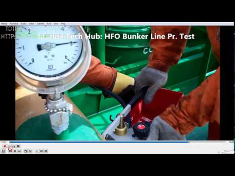 Bunker Line Pressure Test For Heavy Fuel Oil (HFO)