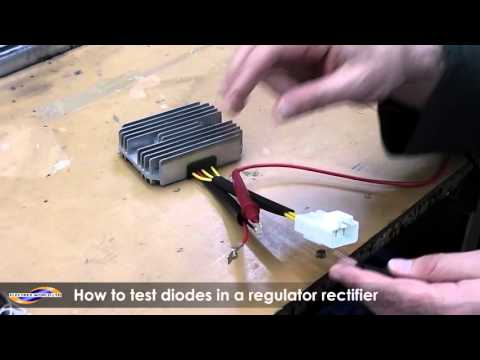 How to test a diode on a regulator rectifier using a multimeter
