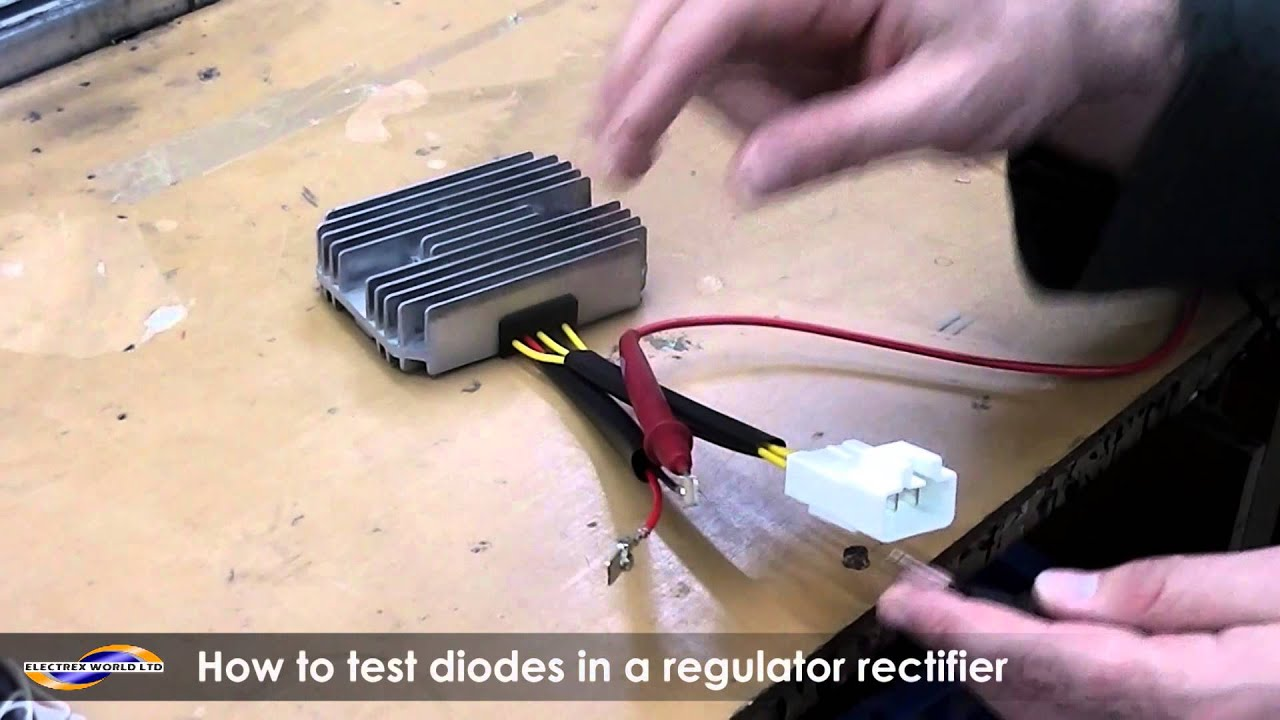 how to test a diode on a regulator rectifier using a multimeter [ 1280 x 720 Pixel ]