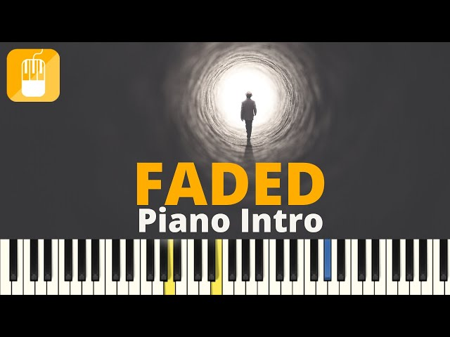 Alan walker  - Faded (intro) Piano tutorial voor piano en keyboard Zeer Eenvoudig