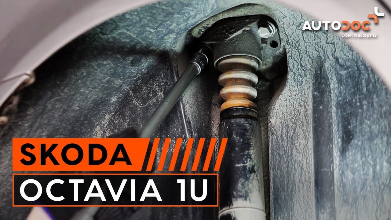 how to replace rear shock absorbers on skoda octavia 1u tutorial autodoc [ 1280 x 720 Pixel ]