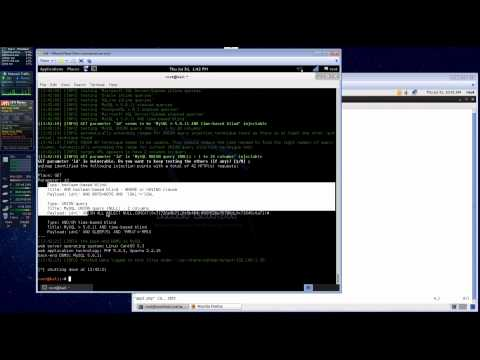 PHP Application MySQL Injection Example TechMeOut.tv