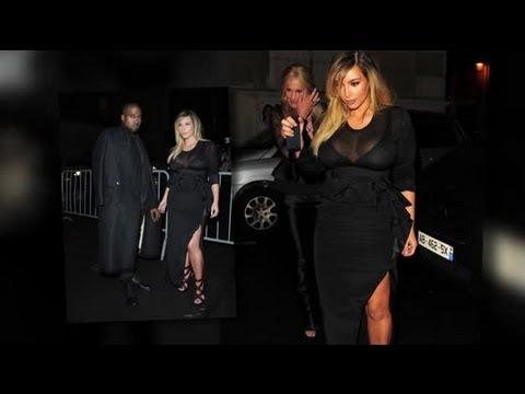 Kim Kardashian begeistert in Kleid mit durchsichtigem Dekolleté auf ...