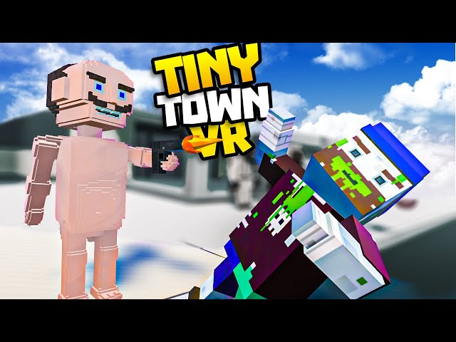 POOPY TIM Saves The TINY TOWN WORLD From ALIENS! - Tiny Town VR